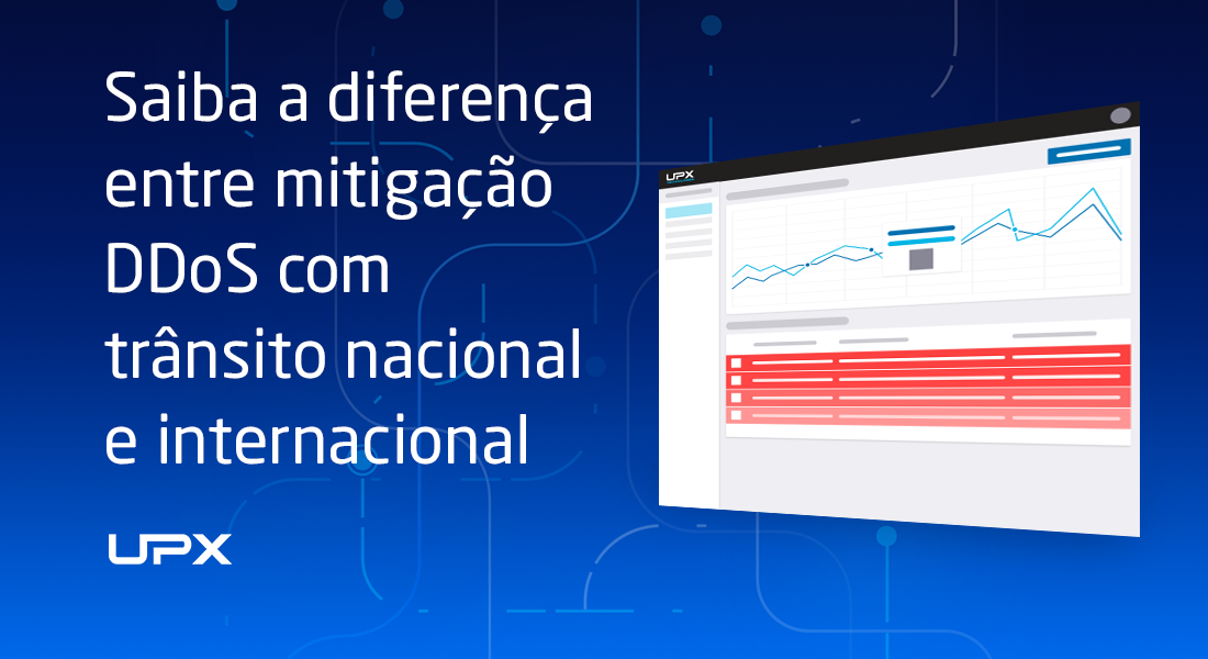 Diferenças: mitigação DDoS com trânsito nacional e internacional