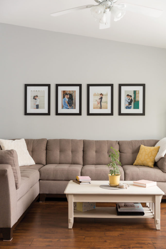 How to hang your wedding photos