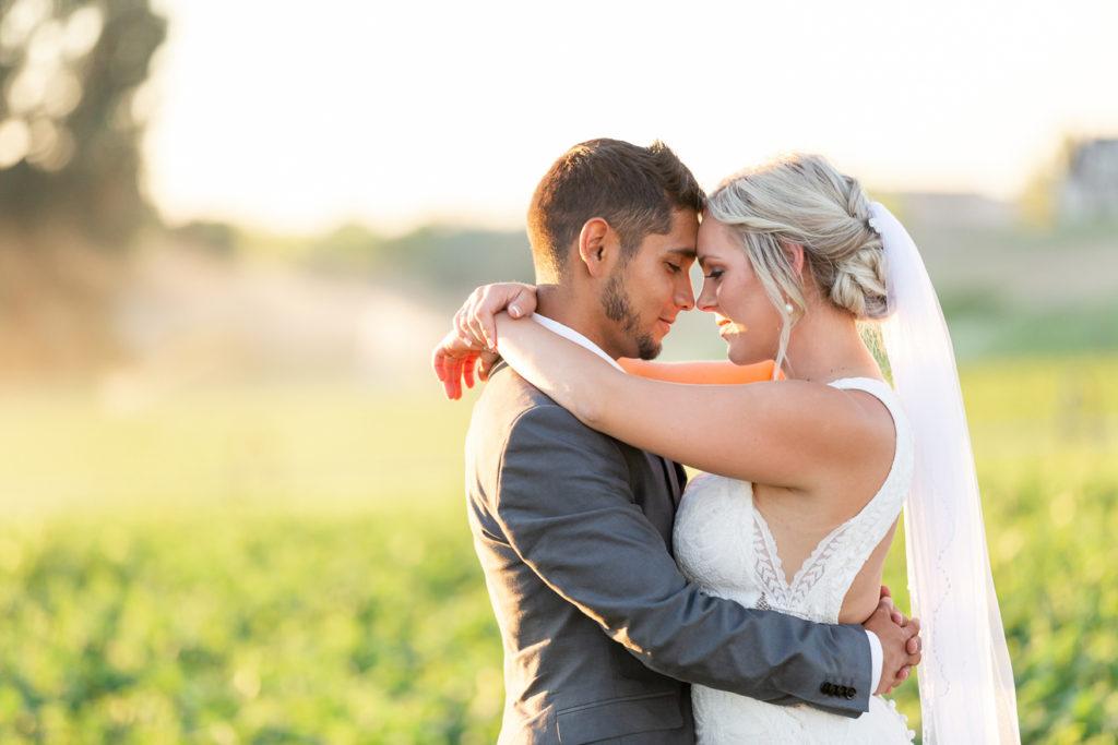 Mariah and Julio Modern Sunset wedding portrait in Idaho