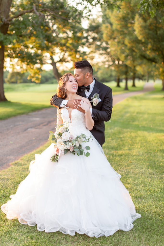 Ashley and JJ wedding photo at Sandcreek Country Club in Indiana
