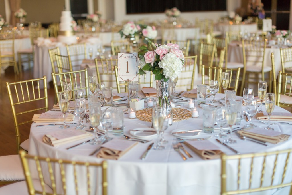 Modern and elegant wedding table setup