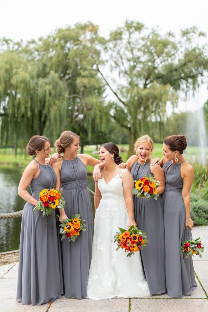 Bride and bridesmaids in chicago