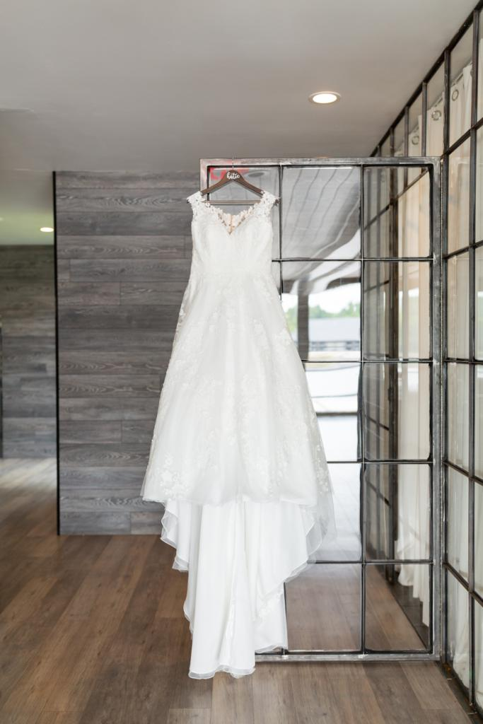 Dress on display at The Allure on the Lake in Indiana