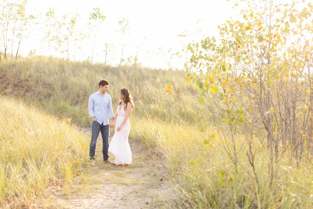 Light and airy sunset portraits in Chicagoland
