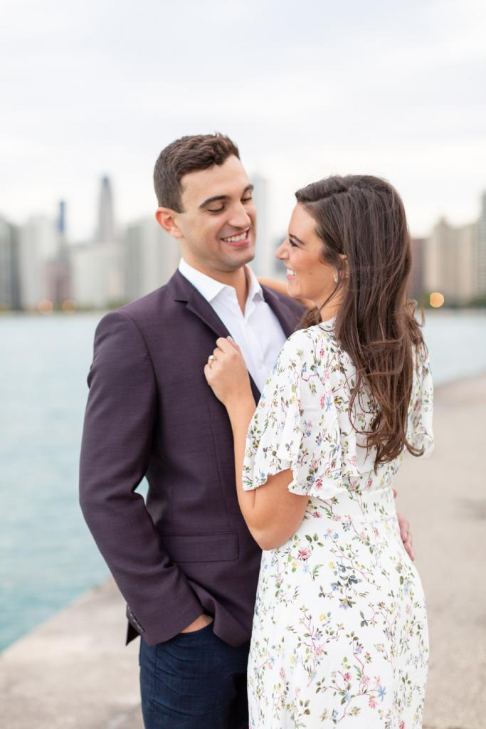 Engagement session on North Avenue Beach in Chicago