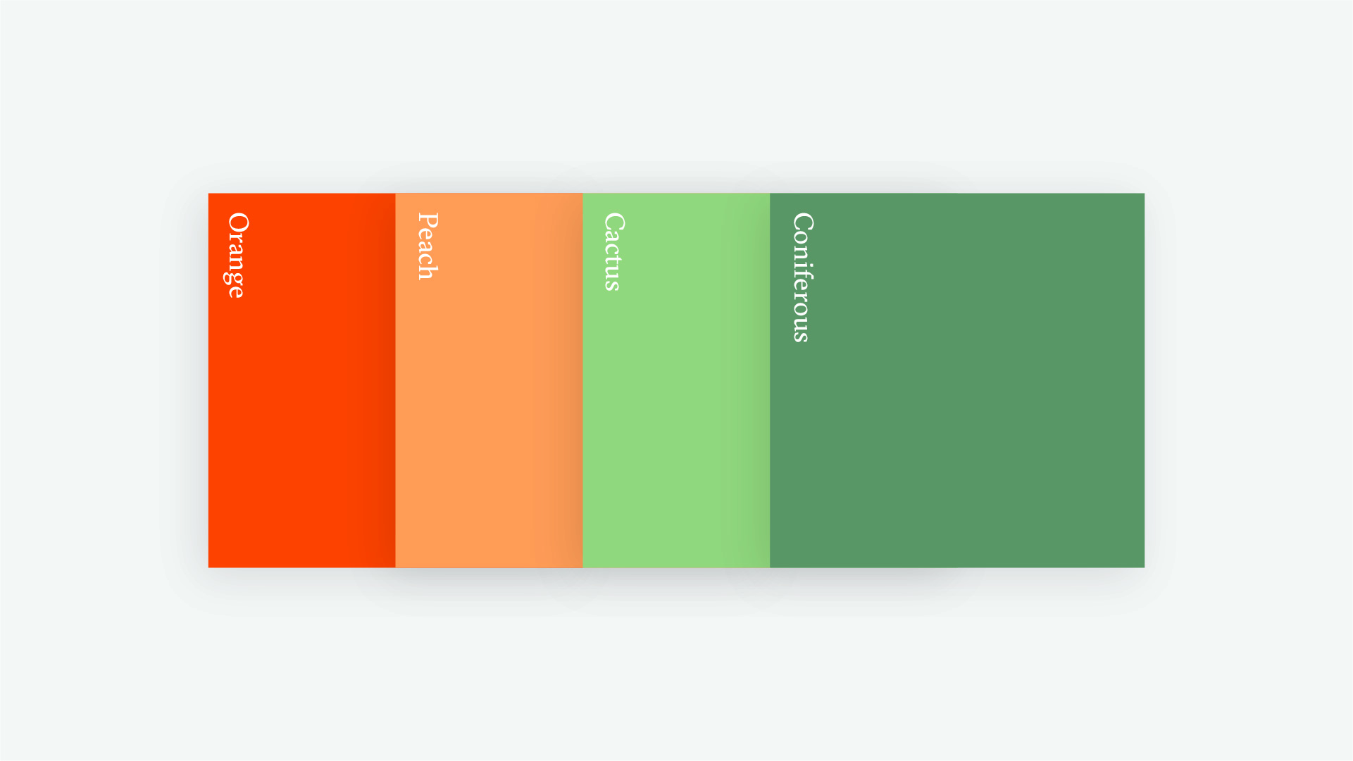 orange and green color palette