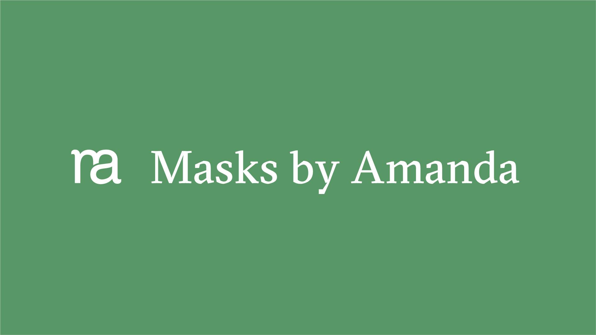 masks by amanda monogram and typography