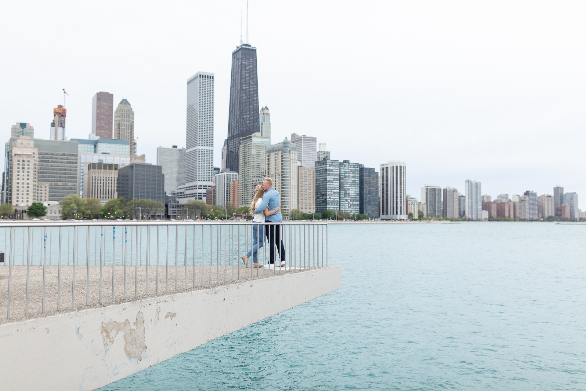 Wrigley Building & Olive Park Engagement Session | Kelsey & Braden