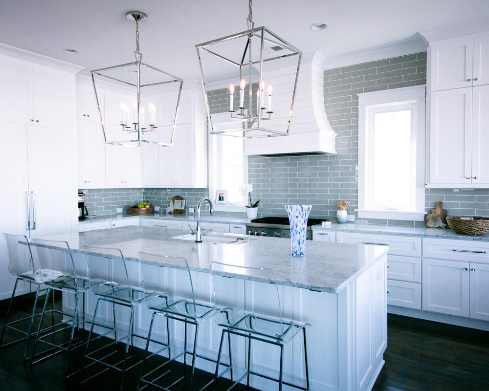 open kitchen plan by custom home builder