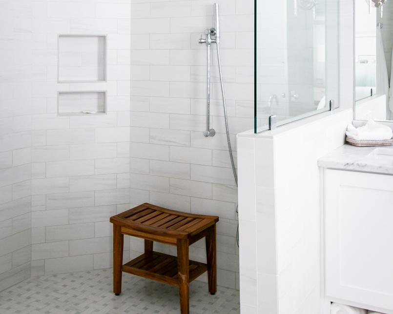 custom bathroom in new luxury beach house