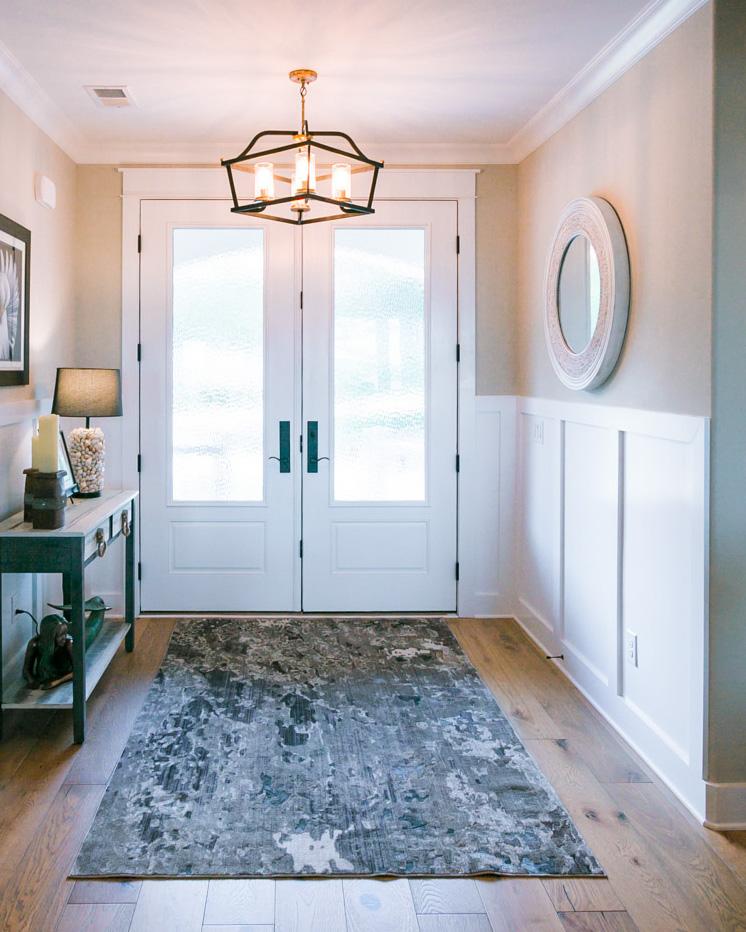 entryway by custom home builder