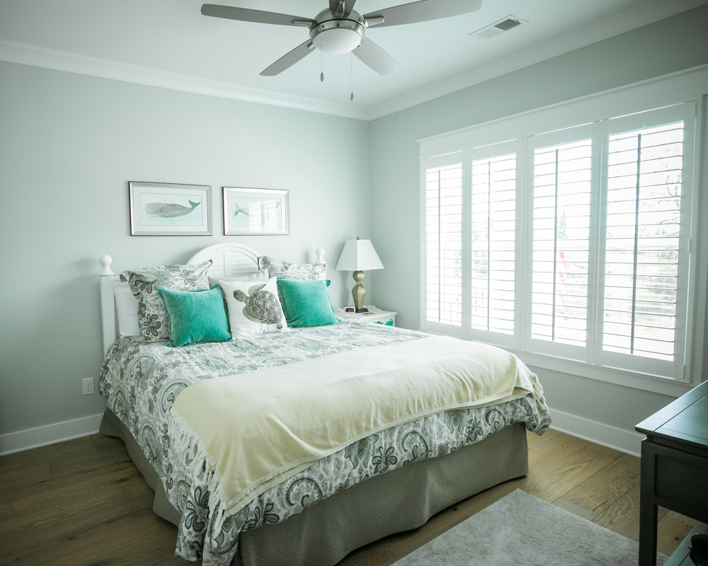 guest room in sunset beach cottage