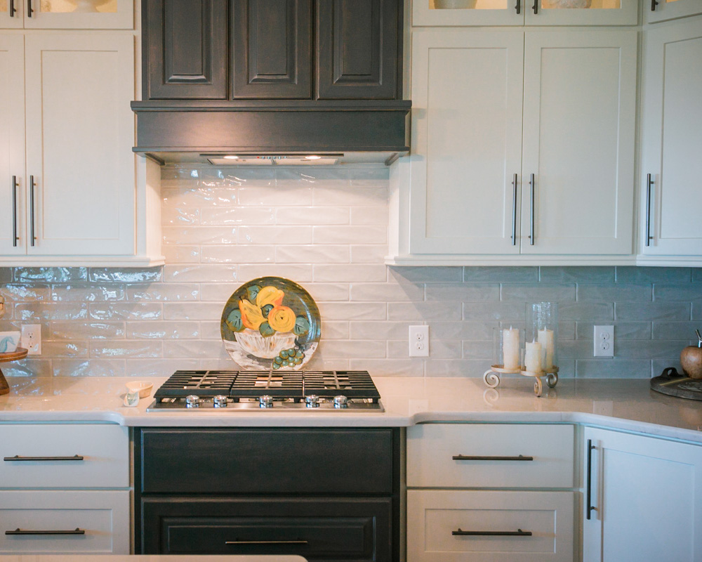 kitchen backsplash in custom beach home