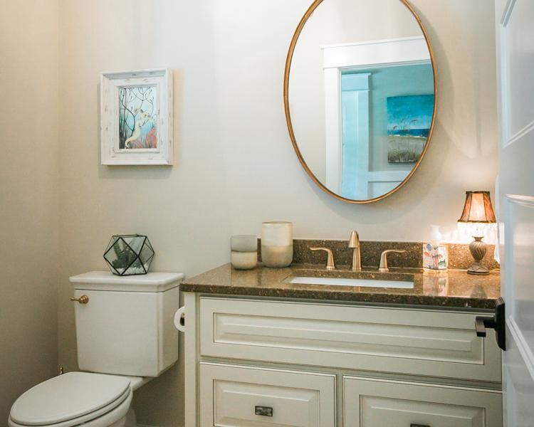 bathroom cabinets by custom home builder
