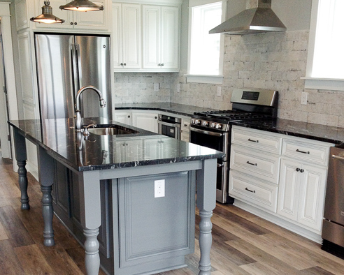 country kitchen by Ernest Crews Construction