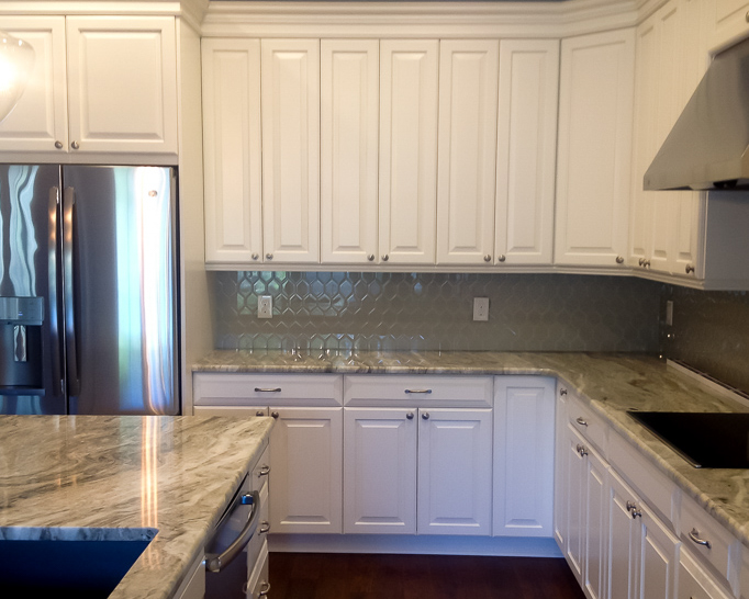 white cabinets in new beach home