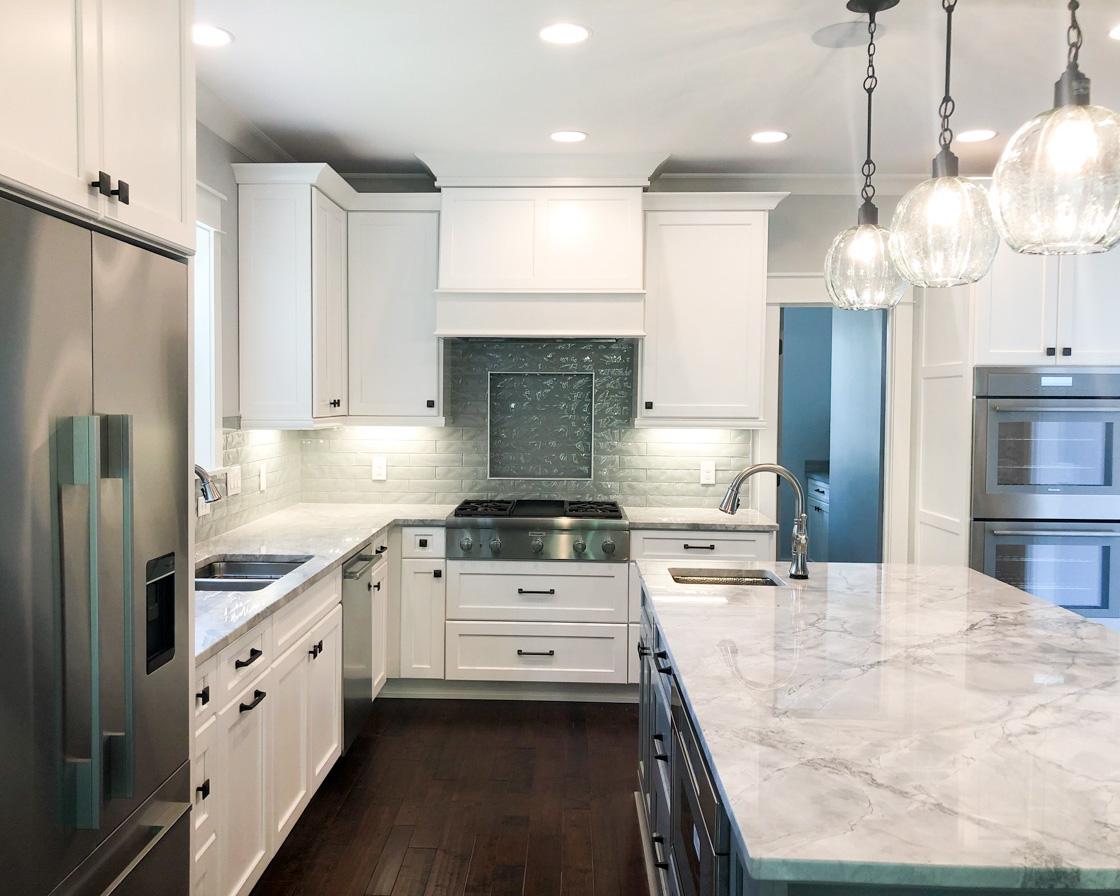 bright modern kitchen by Crews Construction