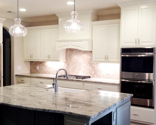 bright kitchen by Ocean Isle Beach home builder