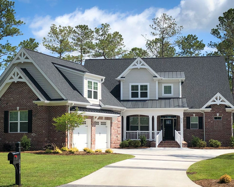 brick home by ocean ridge contractor