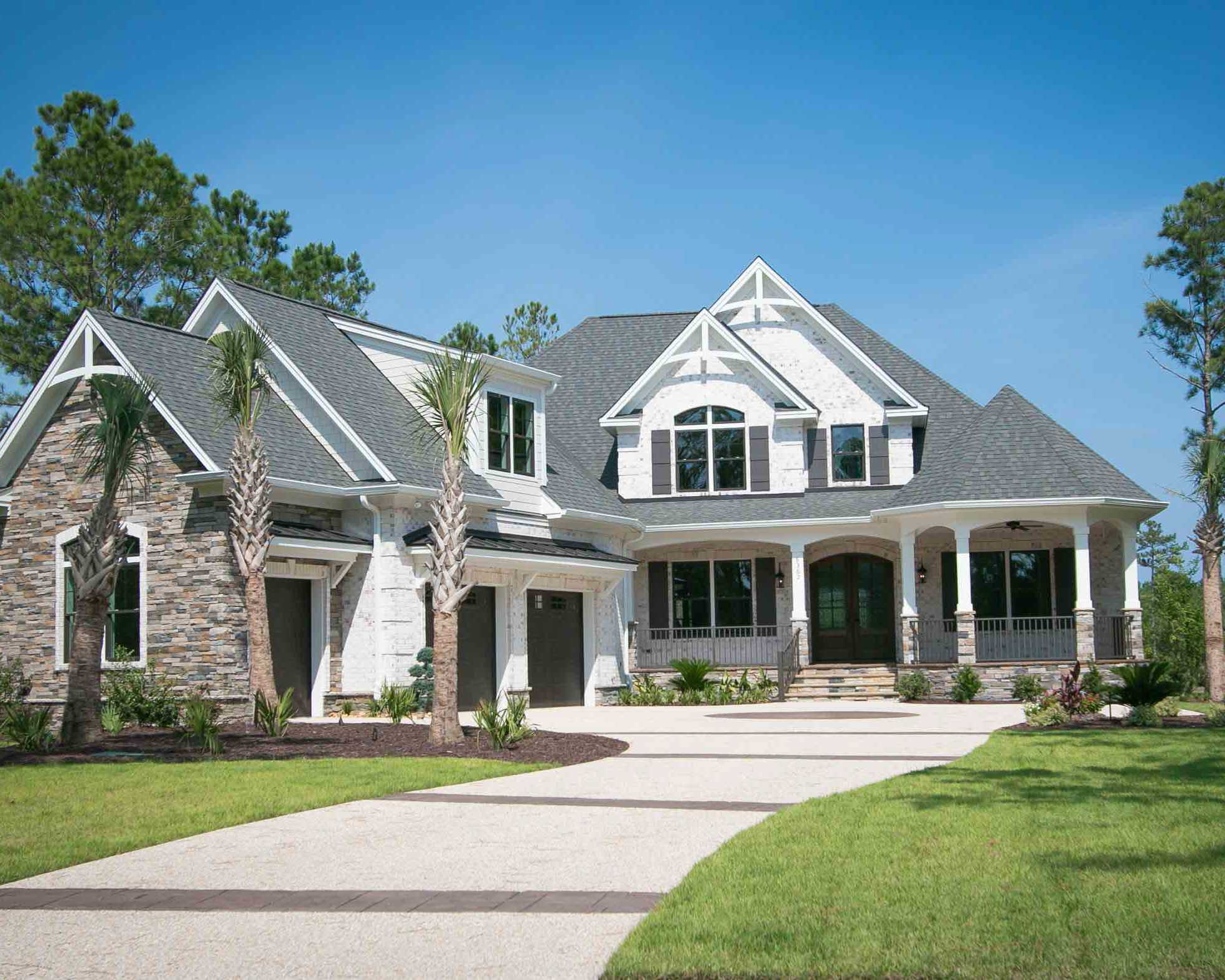 brick home by ocean isle beach builder