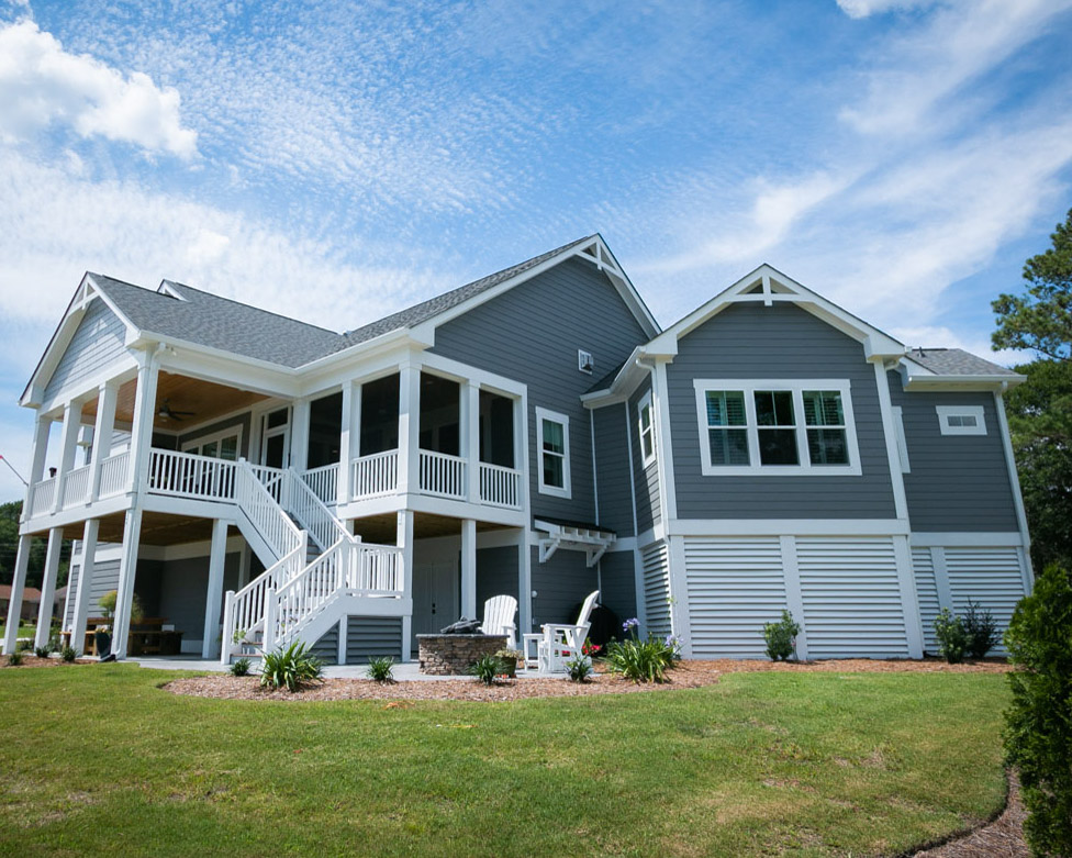 waterway home by ocean isle beach builder