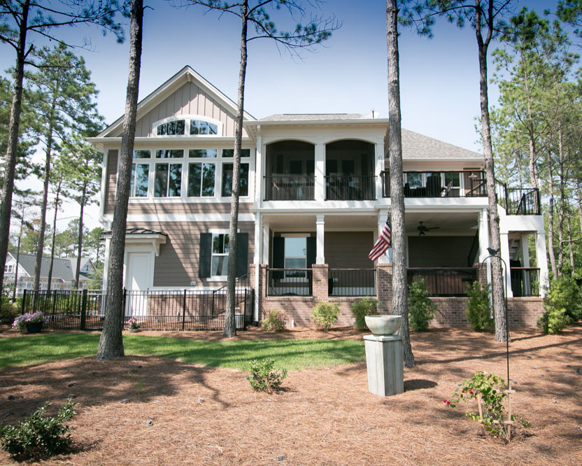 traditional home by ocean isle beach builder
