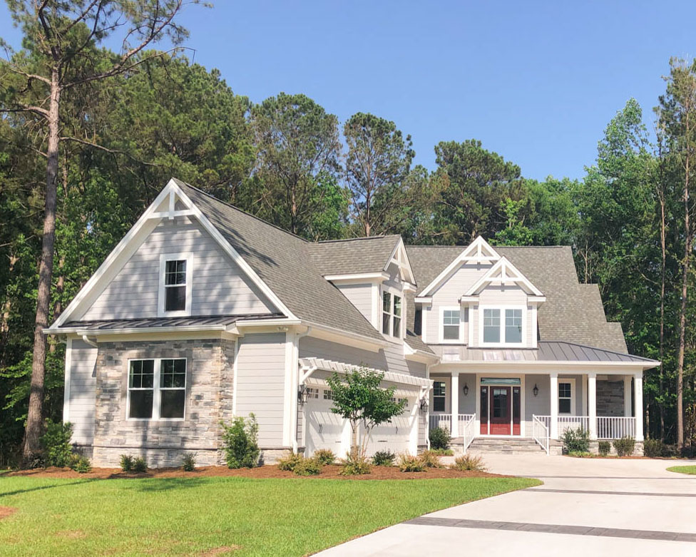 traditional home by ocean isle builder