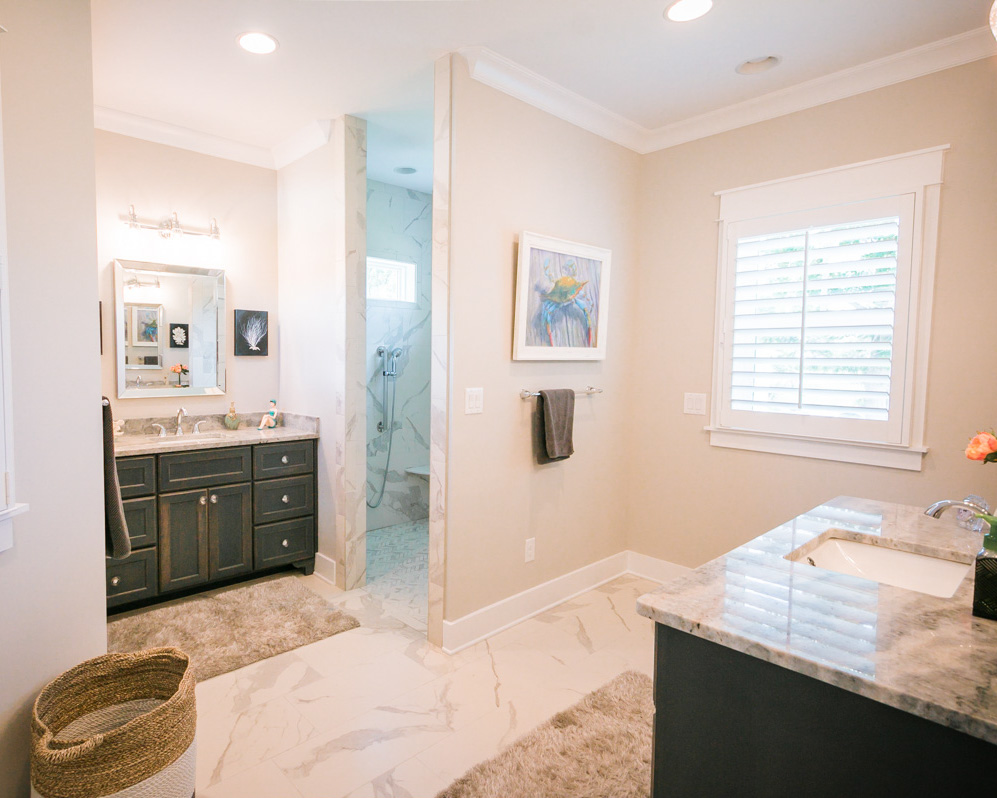 bathroom by custom home builder in ocean isle