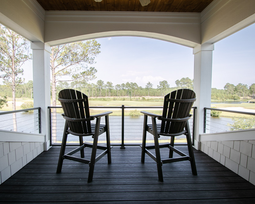 outdoor porch on ocean ridge golf course