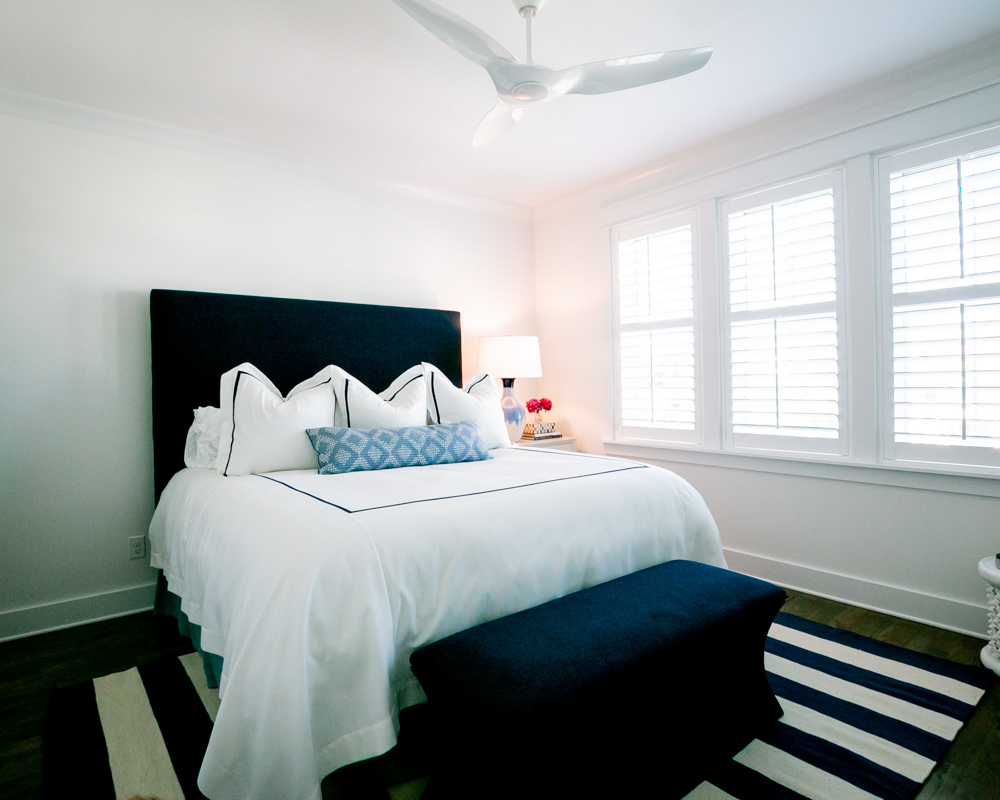 bright bedroom by Ocean Isle Beach NC home builder