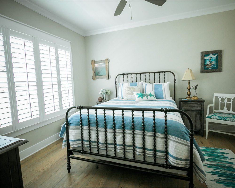 guest bedroom by ocean isle beach nc home builder