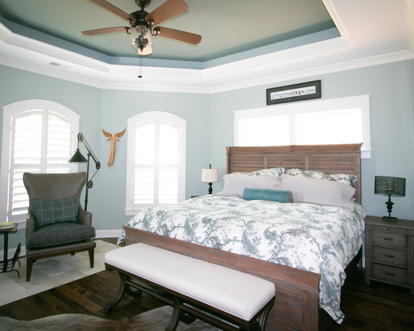 tray ceiling by ocean isle home builder