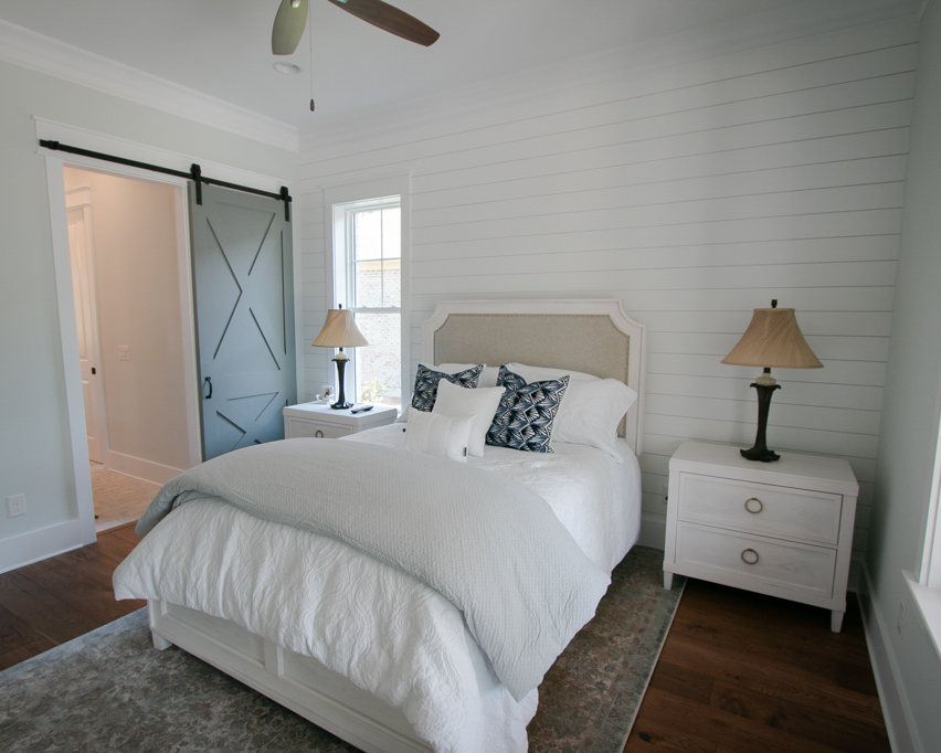 shiplap bedroom by builder in ocean isle beach nc