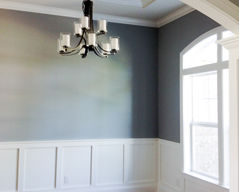 dining room paneling in sunset beach new home