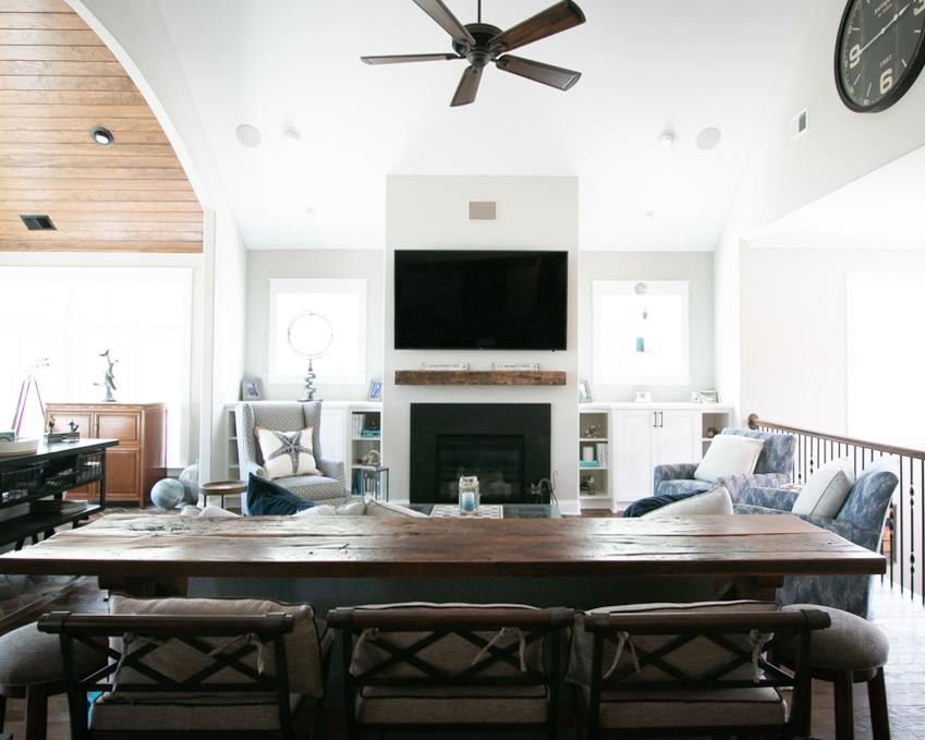 open floor plan by ocean ridge new home contractor