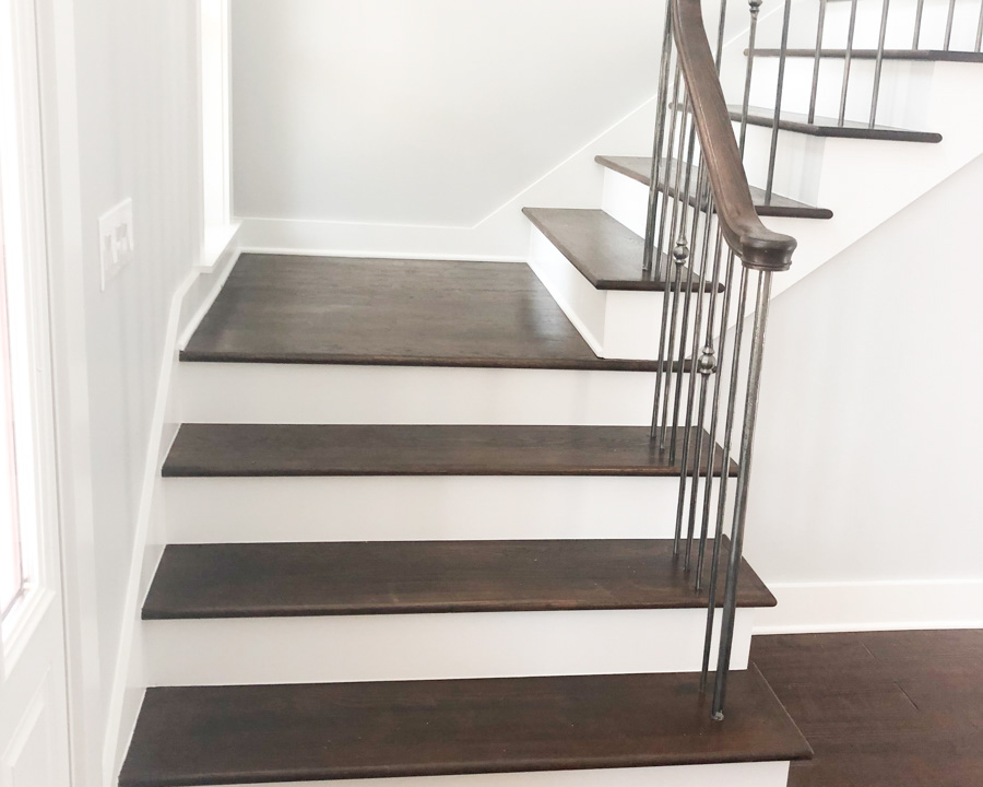 custom stairway in new construction home