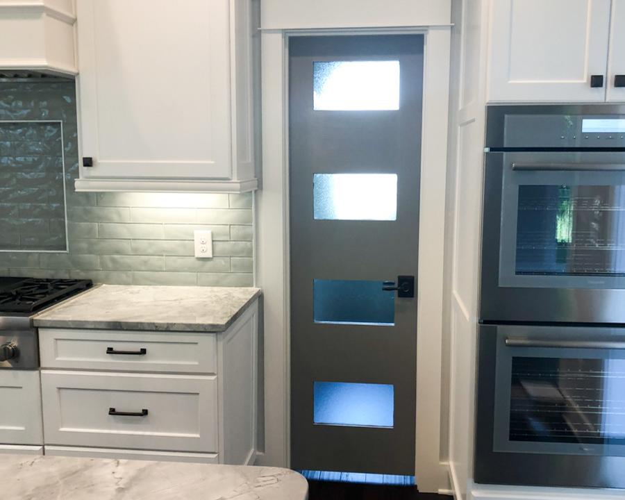 modern kitchen in new ocean ridge home