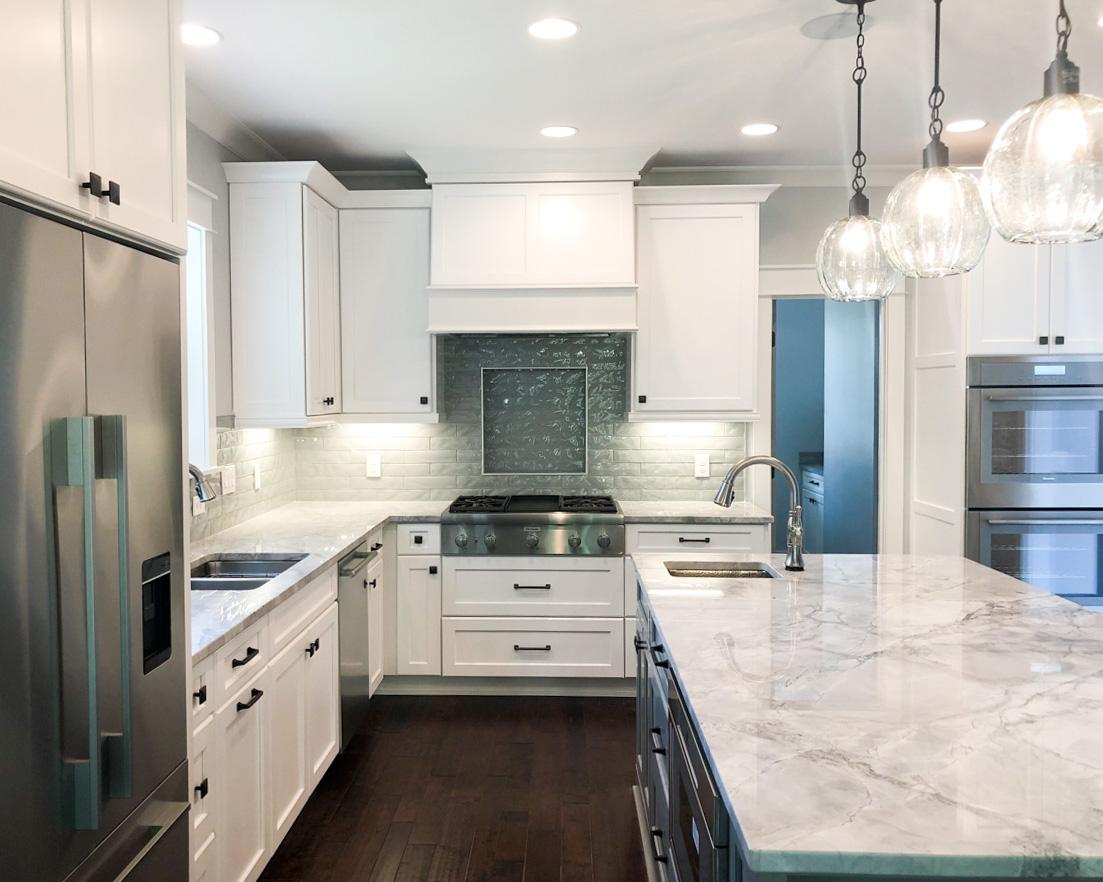 modern kitchen in new luxury golf course home