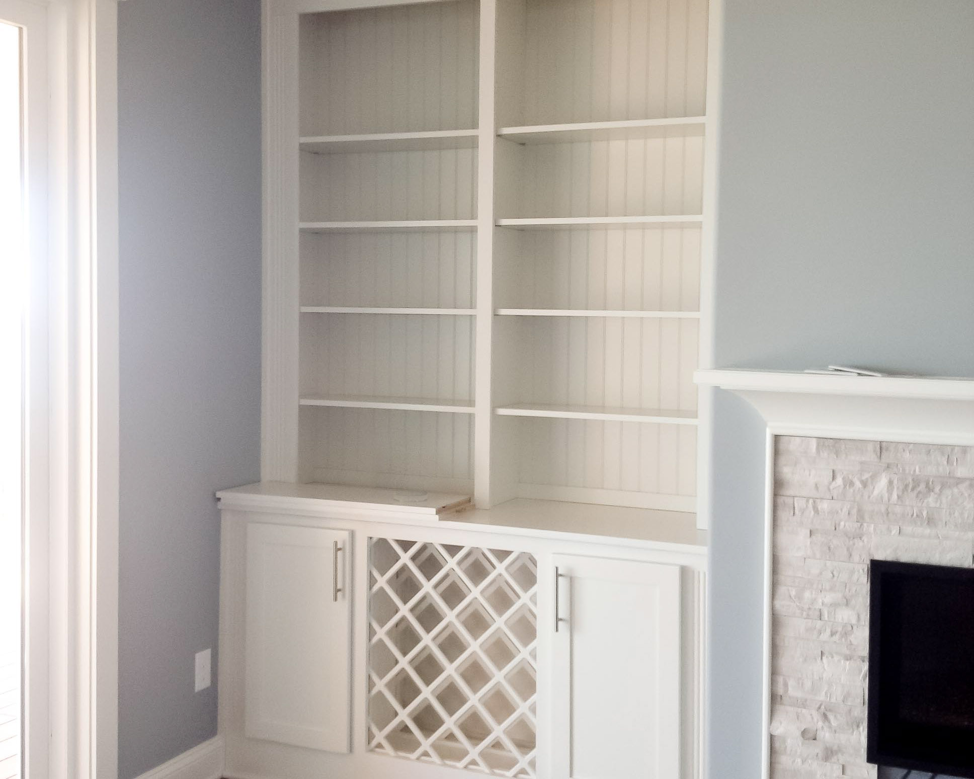 built in cabinets in new beach home