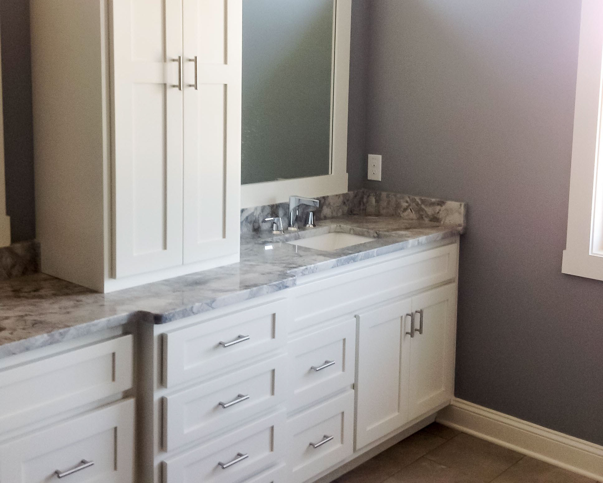 bathroom cabinetry in luxury beach home