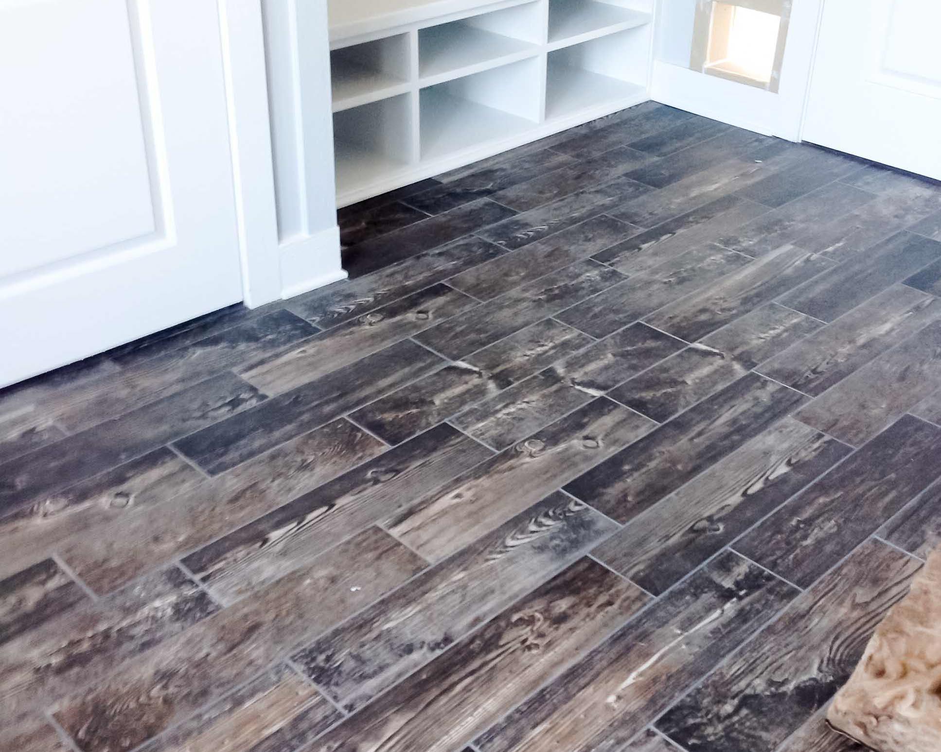 wood flooring in custom beach home
