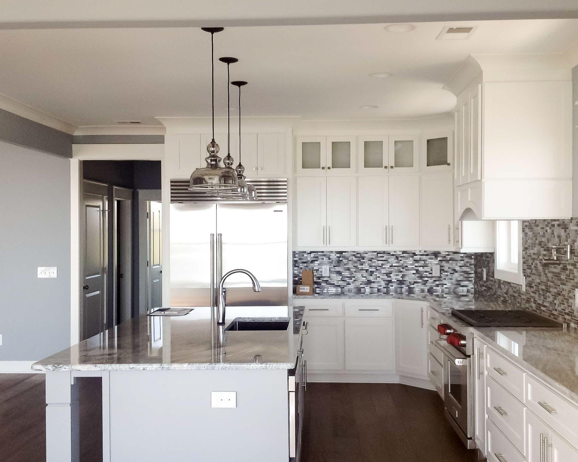 open kitchen in new fine beach home