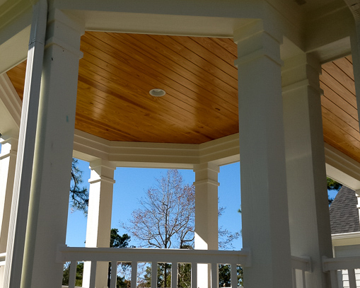 outdoor gazebo in new golf course home