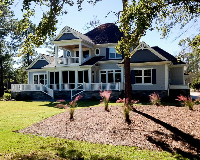 classic exterior of new custom built home