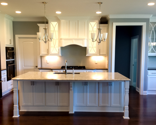custom kitchen island in luxury home