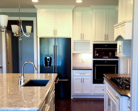 custom cabinets in new fine home