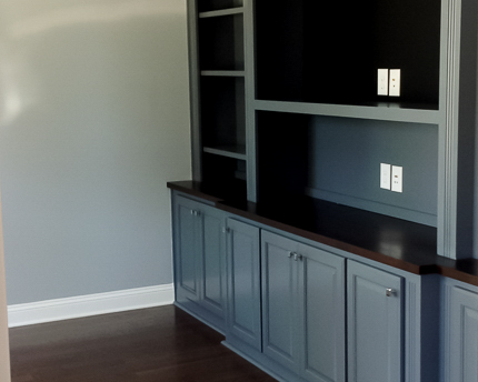 built in cabinetry in new golf course construction