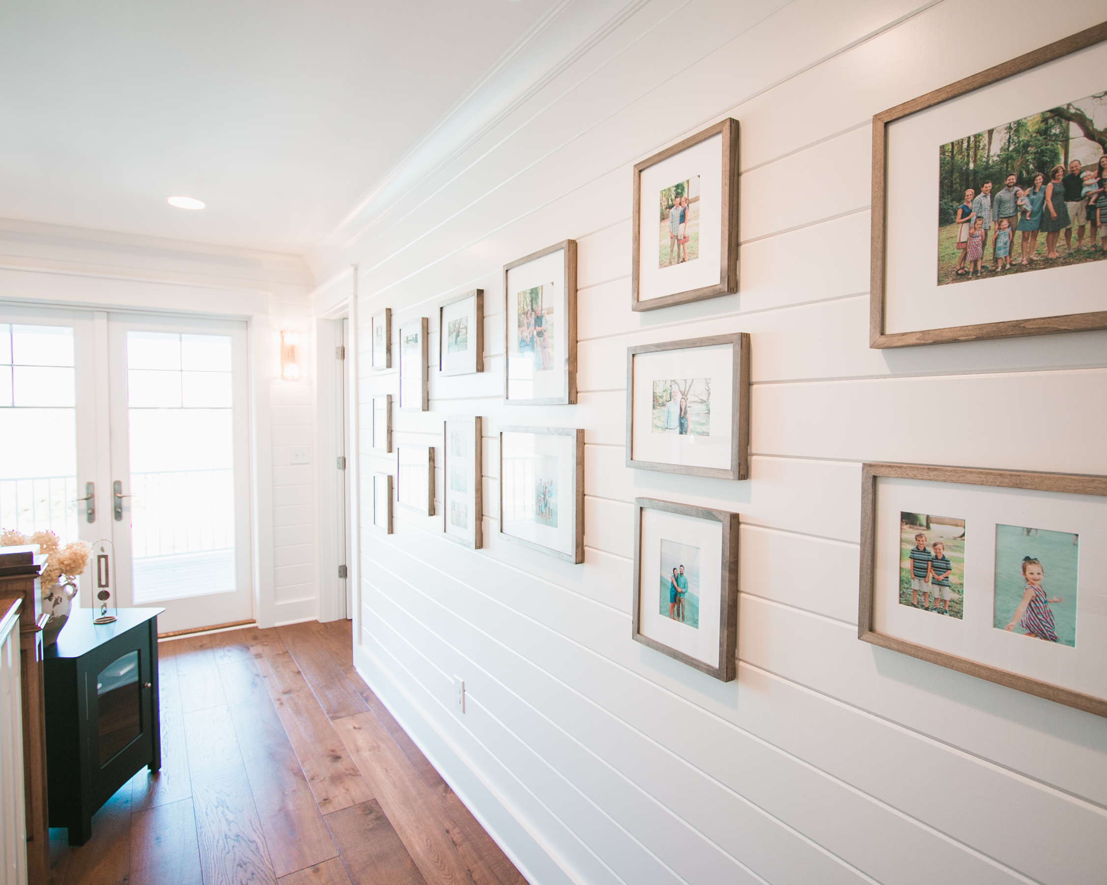 shiplap walls in transitional beach home