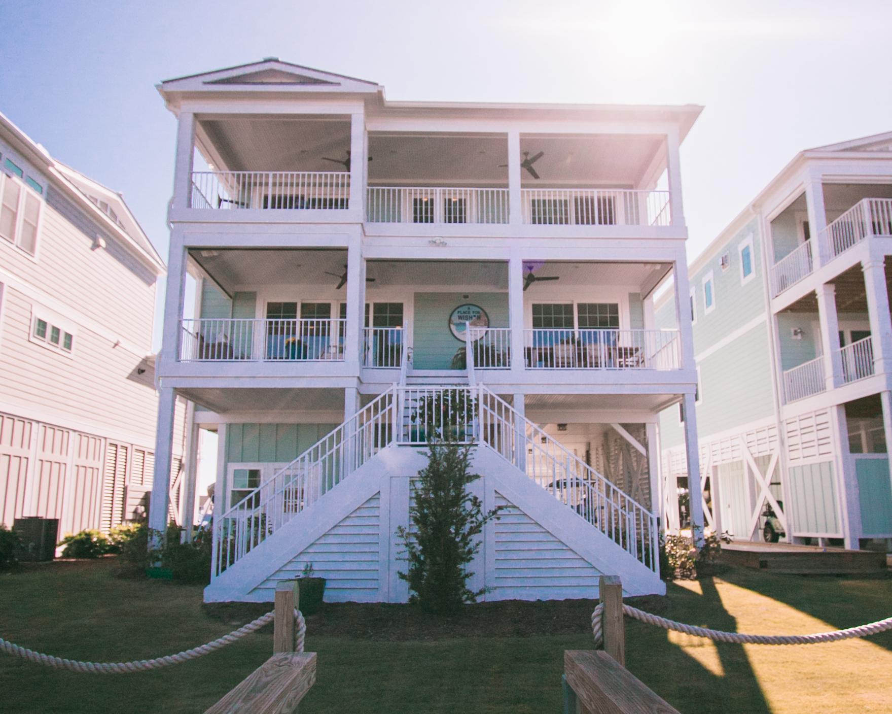 Sunset beach NC luxury beach home exterior