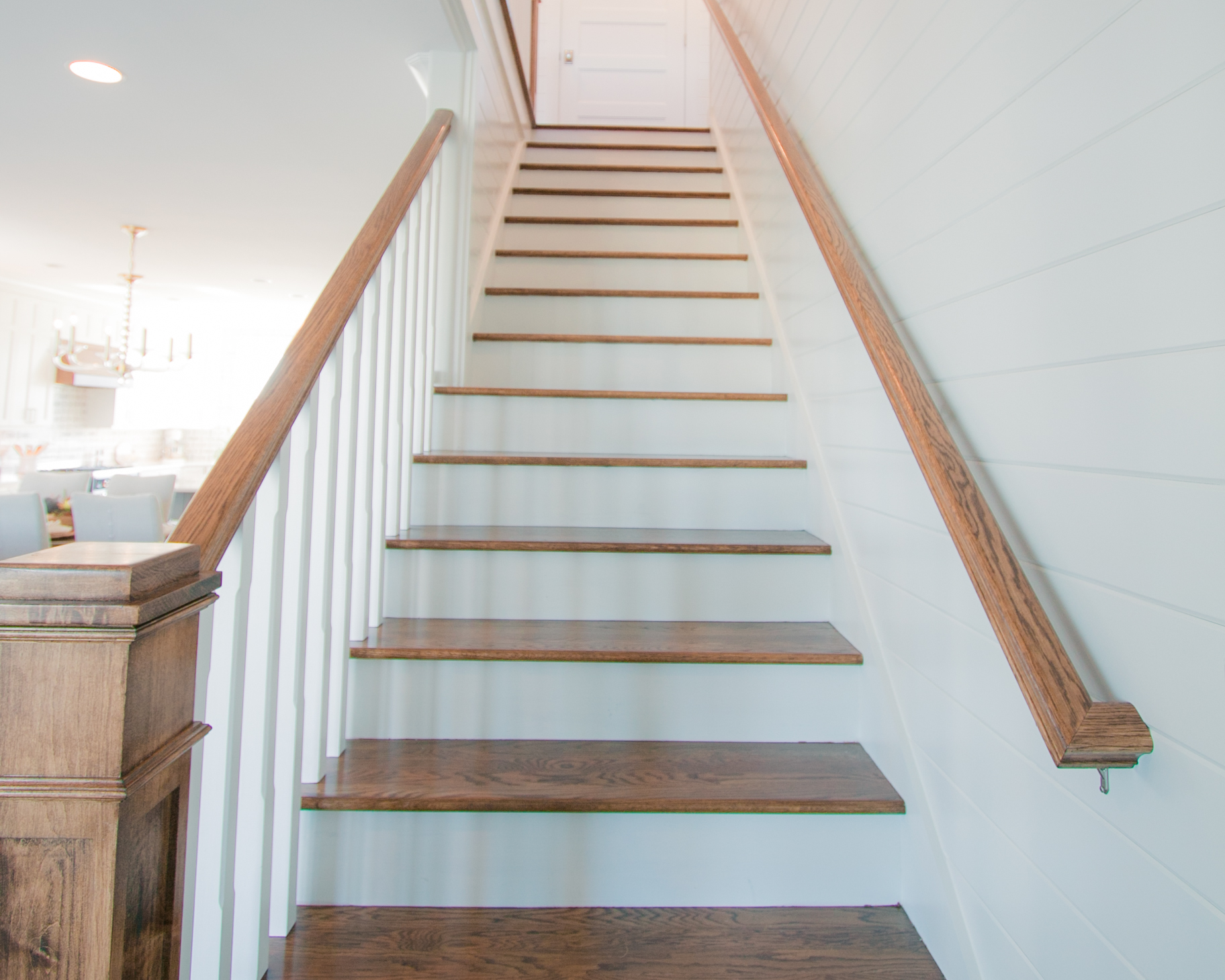 custom stairway in beach home